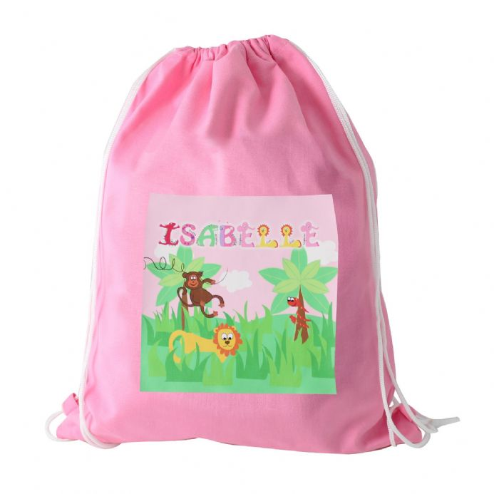 Personalised Animal Alphabet Girls Kit Bag